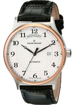 Швейцарские наручные  мужские часы Claude Bernard 83014-357RAB. Коллекция Classic Automatic day-date