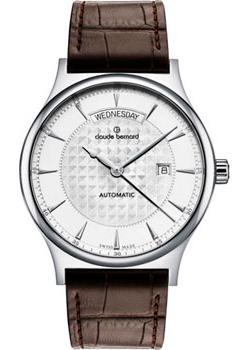 Швейцарские наручные  мужские часы Claude Bernard 83014-3AIN. Коллекция Classic Automatic day-date