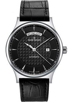 Швейцарские наручные  мужские часы Claude Bernard 83014-3NIN. Коллекция Classic Automatic day-date