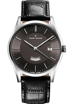 Швейцарские наручные  мужские часы Claude Bernard 84200-3NIN. Коллекция Classic Gents quartz day-date