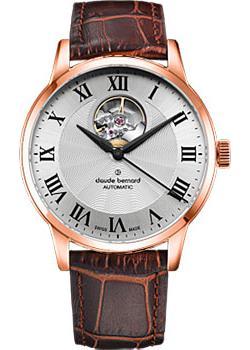 Швейцарские наручные  мужские часы Claude Bernard 85017-37RAR. Коллекция Classic Automatic Open Heart