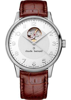 Швейцарские наручные  мужские часы Claude Bernard 85017-3ABN. Коллекция Classic Automatic Open Heart