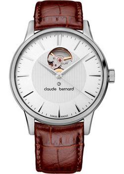 Швейцарские наручные  мужские часы Claude Bernard 85017-3AIN. Коллекция Classic Automatic Open Heart