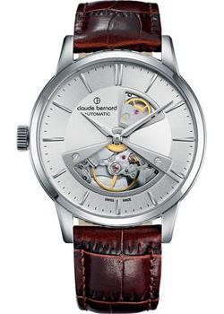 Швейцарские наручные  мужские часы Claude Bernard 85017-3AIN2. Коллекция Classic Automatic Open Heart