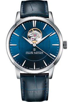 Швейцарские наручные  мужские часы Claude Bernard 85017-3BUIN. Коллекция Classic Automatic Open Heart