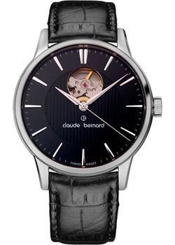 Швейцарские наручные  мужские часы Claude Bernard 85017-3NIN. Коллекция Classic Automatic Open Heart
