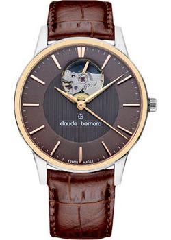 Швейцарские наручные  женские часы Claude Bernard 85018-357RBRIR. Коллекция Classic Automatic Open Heart