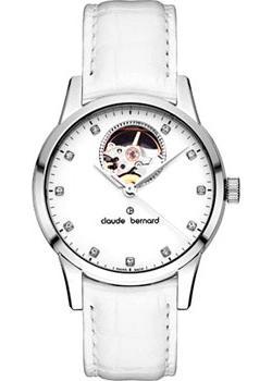Швейцарские наручные  женские часы Claude Bernard 85018-3APN. Коллекция Classic Automatic Open Heart