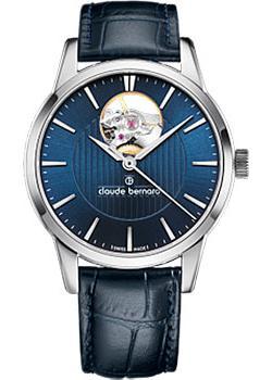 Швейцарские наручные  женские часы Claude Bernard 85018-3BUIN. Коллекция Classic Automatic Open Heart