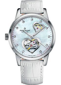 Швейцарские наручные  женские часы Claude Bernard 85018-3NAPN2. Коллекция Classic Automatic Open Heart