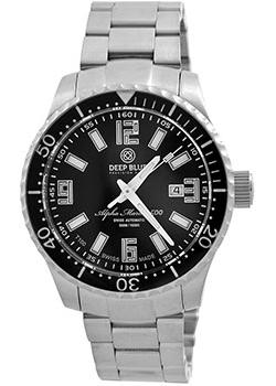 Швейцарские наручные  мужские часы Deep Blue AMT100BLKBLK. Коллекци Alpha Marine T 100