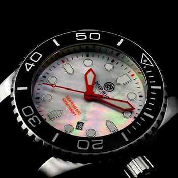 Швейцарские наручные  мужские часы Deep Blue BLKWHTQTZMOP. Коллекция Sea Ram Quartz Mop