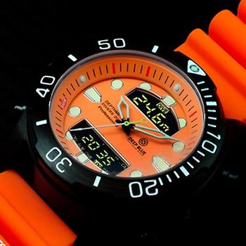 Швейцарские наручные  мужские часы Deep Blue DMADPVDORG. Коллекци Depthmeter Ana/Digi
