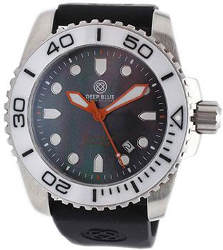 Швейцарские наручные  мужские часы Deep Blue WHTBLKQTZMOP. Коллекци Sea Ram Quartz Mop