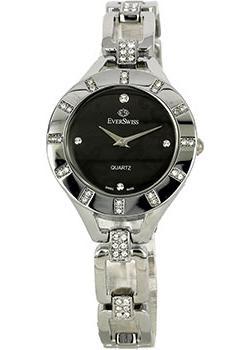 Швейцарские наручные  женские часы EverSwiss 2763-LSB. Коллекция Classic