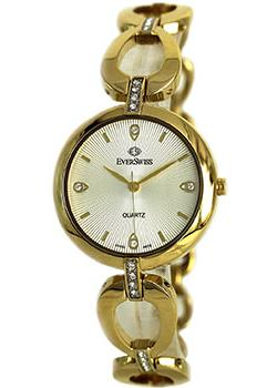 Швейцарские наручные  женские часы EverSwiss 2786-LGS. Коллекция Classic