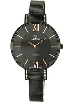 Швейцарские наручные  женские часы EverSwiss 2787-LBKBK. Коллекция Classic