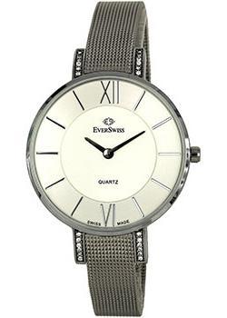 Швейцарские наручные  женские часы EverSwiss 2787-LSS. Коллекция Classic
