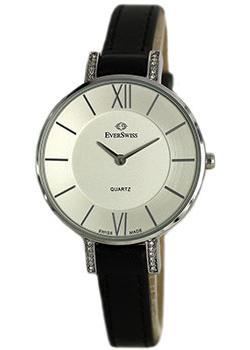 Швейцарские наручные  женские часы EverSwiss 2787-LZS. Коллекция Classic