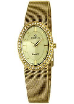 Швейцарские наручные  женские часы EverSwiss 9832-LGC. Коллекция Classic