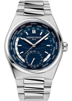 Швейцарские наручные  мужские часы Frederique Constant FC-718N4NH6B. Коллекция Highlife Worldtimer Manufacture