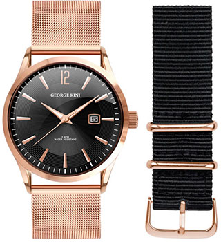 fashion наручные  мужские часы George Kini GK.11.3.2R.22. Коллекция Gents Collection.