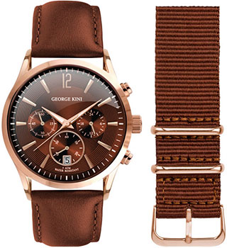 Наручные  мужские часы George Kini GK.12.3.6R.112. Коллекция Gents Collection