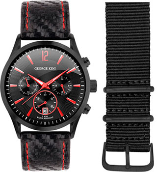 fashion наручные  мужские часы George Kini GK.41.7.1B.2RD.6.2.0. Коллекция Gents Collection.