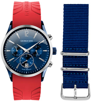 fashion наручные  мужские часы George Kini GK.41.7.1SBU.4S.9.6.0. Коллекция Gents Collection.