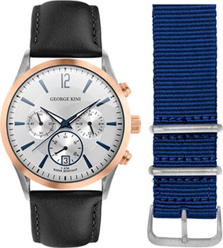 fashion наручные  мужские часы George Kini GK.41.7.1SR.1BU.1.2.0. Коллекция Gents Collection.