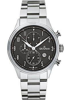 Швейцарские наручные  мужские часы Grovana 1192.9137. Коллекция Chrono