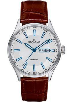 Швейцарские наручные мужские часы Grovana 1194.1532. Коллекция Traditional