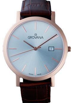 Швейцарские наручные  мужские часы Grovana 1230.1962. Коллекци Traditional