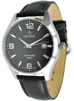 Швейцарские наручные  мужские часы Grovana 1568.1337. Коллекция Traditional
