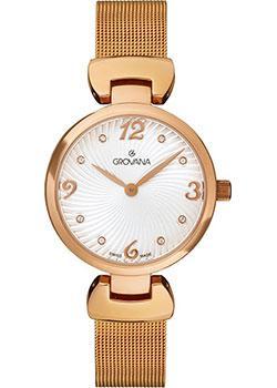 Швейцарские наручные  женские часы Grovana 4485.1162. Коллекция Dressline