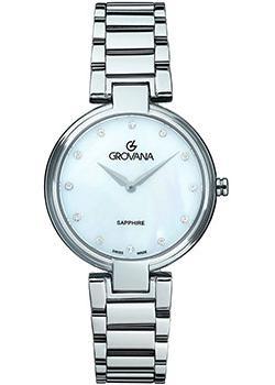 Швейцарские наручные  женские часы Grovana 4556.1138. Коллекция DressLine