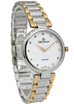 Швейцарские наручные  женские часы Grovana 4556.1158. Коллекция DressLine