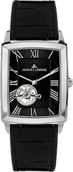 fashion наручные мужские часы Jacques Lemans 1-1610A. Коллекция Bienne