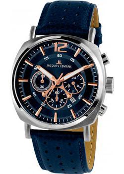 fashion наручные мужские часы Jacques Lemans 1-1645i. Коллекция Lugano