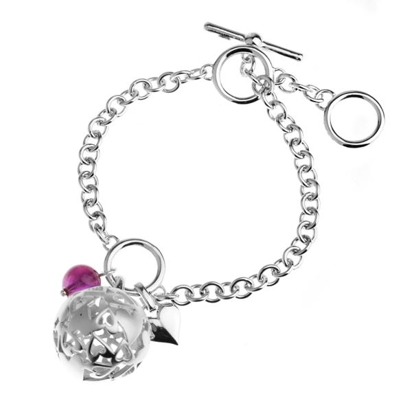 Вид изделия: Браслет.  Скидка на серебряный браслет Joli с агатом.