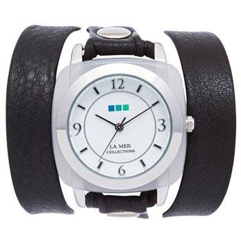 fashion наручные  женские часы La Mer LMACETATE009. Коллекция На длинном ремешке - La MerКварцевые часы. Механизм Seiko. 12 часовой формат времени. Корпус из металла и пластика. Минеральное стекло выпуклой формы. Кожаный ремень длиной 550 мм. Размер корпуса 38х38 мм.<br>