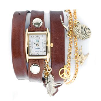 fashion наручные  женские часы La Mer LMCW1006. Коллекция С цепочками и подвесками