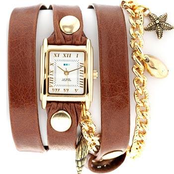 fashion наручные  женские часы La Mer LMCW4021X. Коллекци С цепочками и подвесками