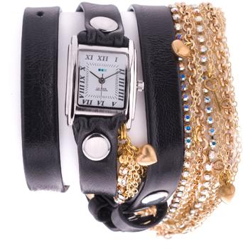 fashion наручные  женские часы La Mer LMMULTI3002bl. Коллекция С цепочками и подвесками