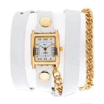 fashion наручные  женские часы La Mer LMSCW1007WHT. Коллекция С цепочками и подвесками