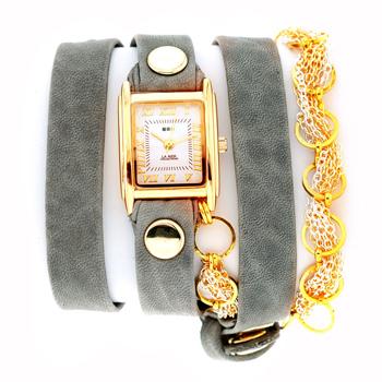 fashion наручные  женские часы La Mer LMSCW6004B. Коллекция С цепочками и подвесками