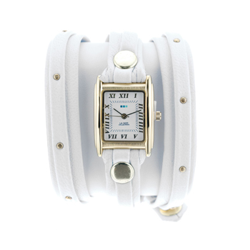 fashion наручные  женские часы La Mer LMSW1016Gold. Коллекция С клепками