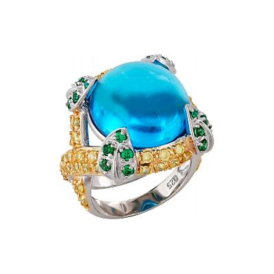 Серебряное кольцо  100215