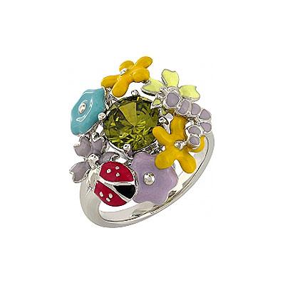 Серебряное кольцо  106161