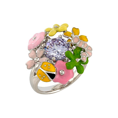 Серебряное кольцо  106162